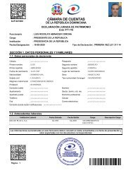 Declaración jurada de bienes del presidente Luis Abinader