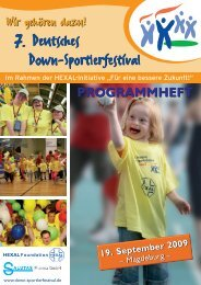 Programmheft 7. Sportfestival-Magdeburg - Down Sportlerfestival