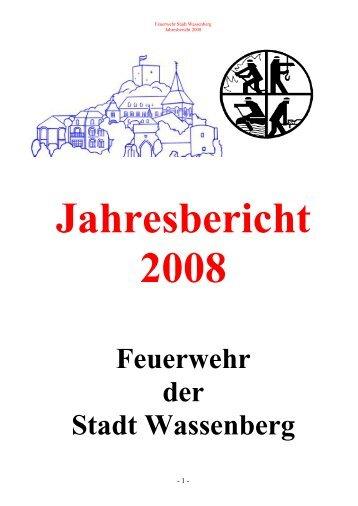 JAHRESBERICHT 2008 - Feuerwehr Wassenberg