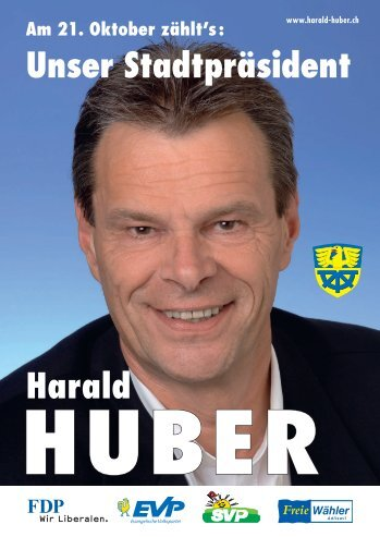 Harald Huber als Stadtpräsident - FDP Adliswil