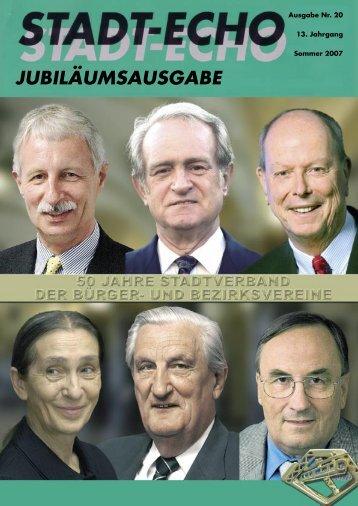 JUBILÄUMSAUSGABE - Stadtverband der Bürger- und ...