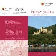 4-Seiter Veranstaltungen.indd - Schloss Stolzenfels