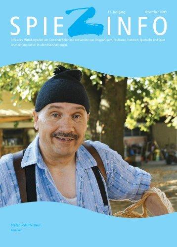 Stefan «Stöff» Baur Komiker 13. Jahrgang November 2009 - in Spiez