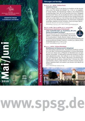 2010 - Stiftung Preußische Schlösser und Gärten