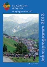 2013 Jahresprogramm:2010 Jahresprogramm - Albverein Markdorf