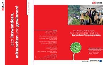 Moderne Fahrkartenautomaten - Rheinland-Pfalz-Takt