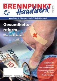 Gesundheits- reform - Kreishandwerkerschaft Rhein-Westerwald