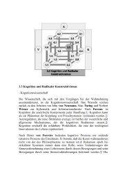 3.3 Kognition und Radikaler Konstruktivismus ... - Wissensnavigator