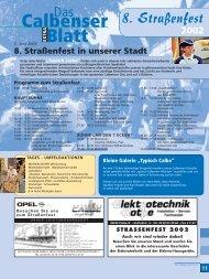 8. Straßenfest 2002