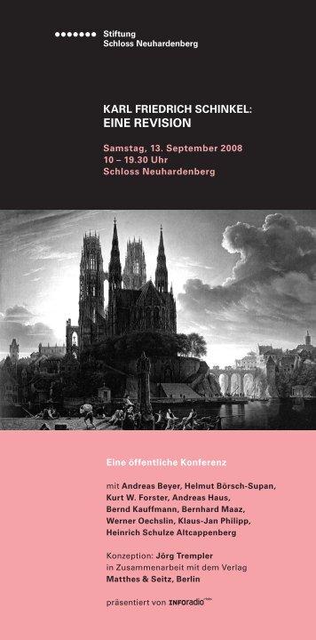 Programm - Stiftung Schloss Neuhardenberg