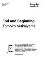 2020 09 17 End an Beginning - Tomoko Mukaiyama