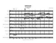 Serenade -Score