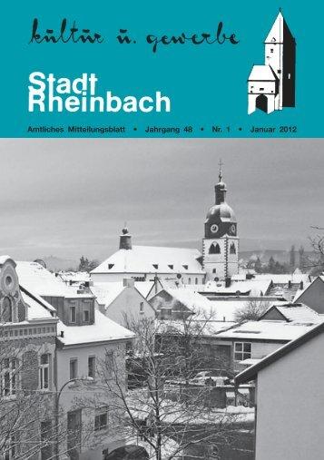 Amtliches Mitteilungsblatt • Jahrgang 48 • Nr. 1 • Januar ... - Rheinbach