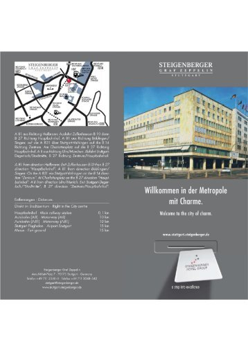 Hotelprospekt (PDF) - Stuttgart Locations