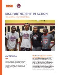 RISE PARTNERSHIP IN ACTION: CASE STUDY-PHILADELPHIA YOUTH BASKETBALL