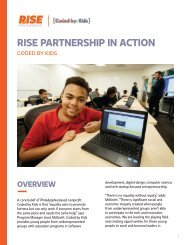 RISE PARTNERSHIP IN ACTION: CASE STUDY- CODED BY KIDS
