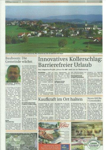 Kollerschlag - Rundschau Bericht vom 11.10.2007