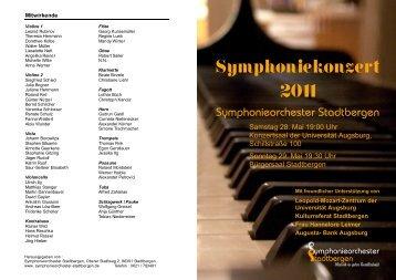 Kunst des Zusammenspiels - Symphonieorchester Stadtbergen