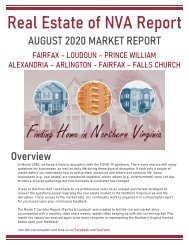 2020-08 -- Real Estate of Northern Virginia Market Report - August 2020 Market Trends - Michele Hudnall