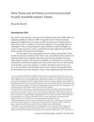 Geisteswissenschaft - Journal of Art Historiography