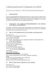 5. ordentliche Sitzung des Senates der 3. Funktionsperiode vom 11 ...