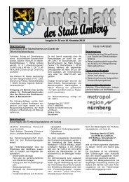 Nr. 22 / 16.11.2012 - Stadt Amberg