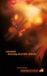 Liederabend Donnerstag, 26.01.2012 · 20.00 Uhr Liederabend ...