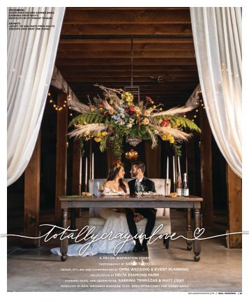 """Real Weddings Magazine's """"Totally Cray in Love"""" Styled Shoot - Fall 2020 - Featuring some of the Best Wedding Vendors in Sacramento, Tahoe and throughout Northern California!"""