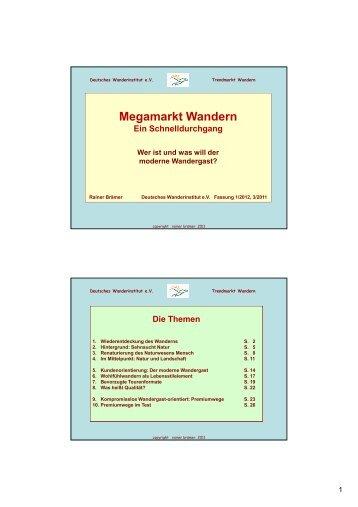 Megamarkt Wandern - Wanderforschung.de