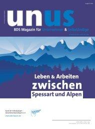 Leben & Arbeiten Spessart und Alpen - UNUS - Unternehmer ...
