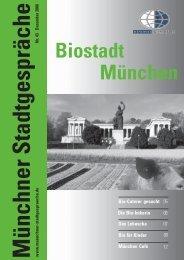 Münchner Stadtgespräche: Biostadt München - Umweltinstitut ...