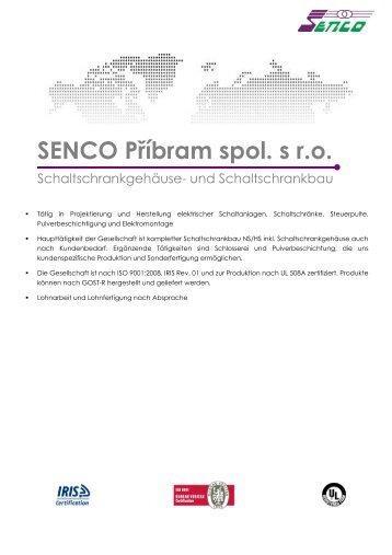 konstruktionszeichnungen - SENCO Příbram