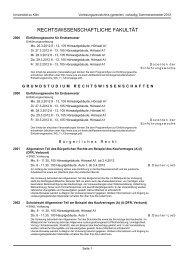 rechtswissenschaftliche fakultät - koost - Universität zu Köln