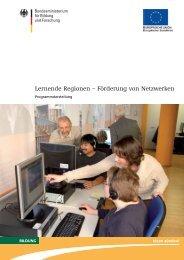 Lernende Regionen – Förderung von Netzwerken - Netzwerk