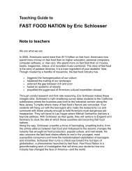 FAST FOOD NATION by Eric Schlosser - Ingram Library Services