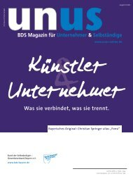 UNUS Ausgabe 04 / 2011 - Bund der Selbständigen in Bayern