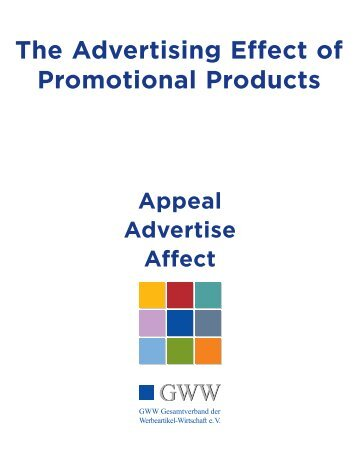 The Advertising Effect of Promotional Products - bwg-Verband