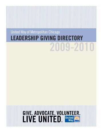 leadership giving directory - United Way of Metropolitan Chicago
