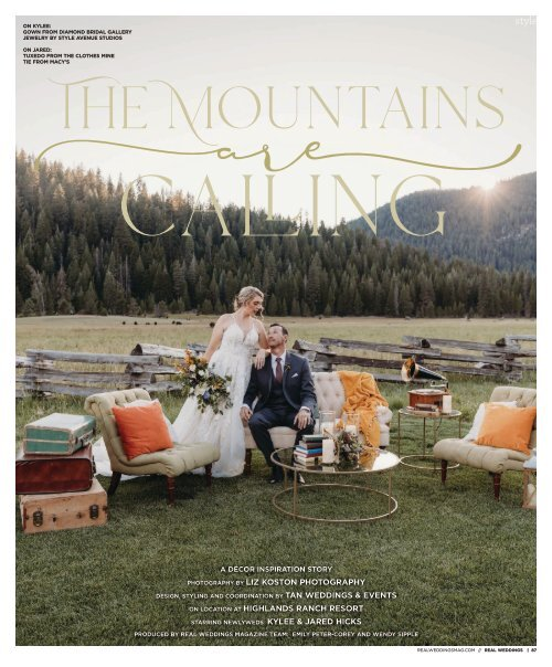 """Real Weddings Magazine's """"The Mountains are Calling"""" Styled Shoot - Fall 2020 - Featuring some of the Best Wedding Vendors in Sacramento, Tahoe and throughout Northern California!"""