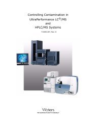 Controlling Contamination in UltraPerformance LC /MS and ... - Waters