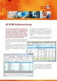 JET KORE Kostenrechnung - Data Systems Austria