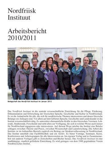 Nordfriisk Instituut Arbeitsbericht 2010/2011