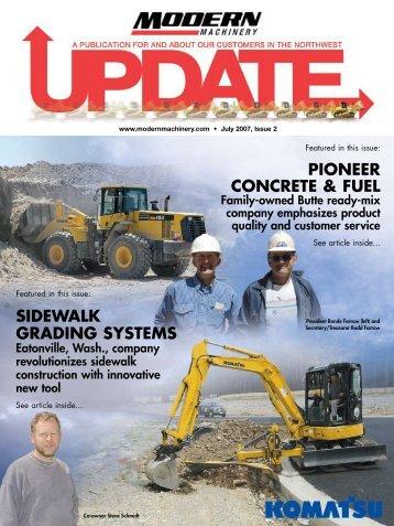 sidewalk grading systems pioneer concrete & fuel - Modern ...