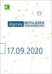 Digitale Mitgliederversammlung 2020
