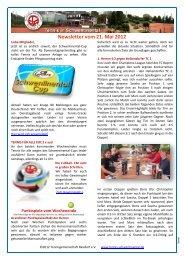 Newsletter vom 21. Mai 2012 - Tennis in Schwentinental