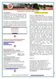 Newsletter vom 26. März 2012 - Tennis in Schwentinental