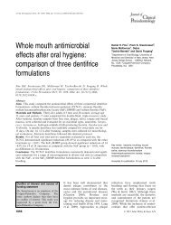 Whole mouth antimicrobial effects after oral hygiene ... - LabOral