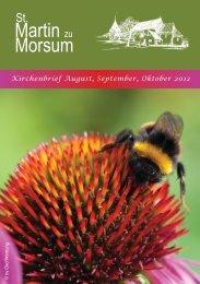 Gottesdienste im September - St. Martin zu Morsum
