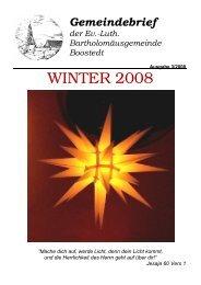 Gemeindebrief 2008_3 - bei der Bartholomäus Kirchengemeinde in ...