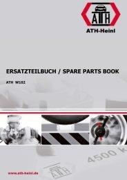 ATH-Heinl ERSATZTEILBUCH SPARE PARTS BOOK W102